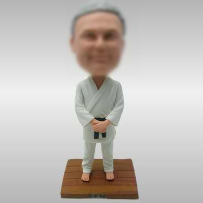 Karate man custom made bobble heads