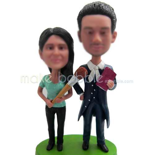 Custom bobbleheads  funny couple
