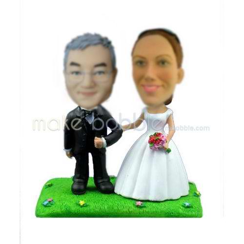 Personalized custom wedding bobble head