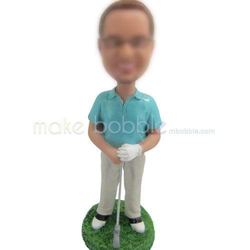 personalized golf bobble head doll