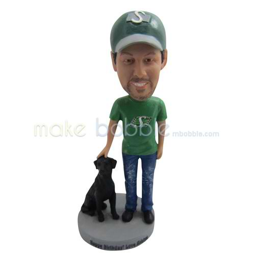 the man and his dog custom bobbleheads a love more than a gift